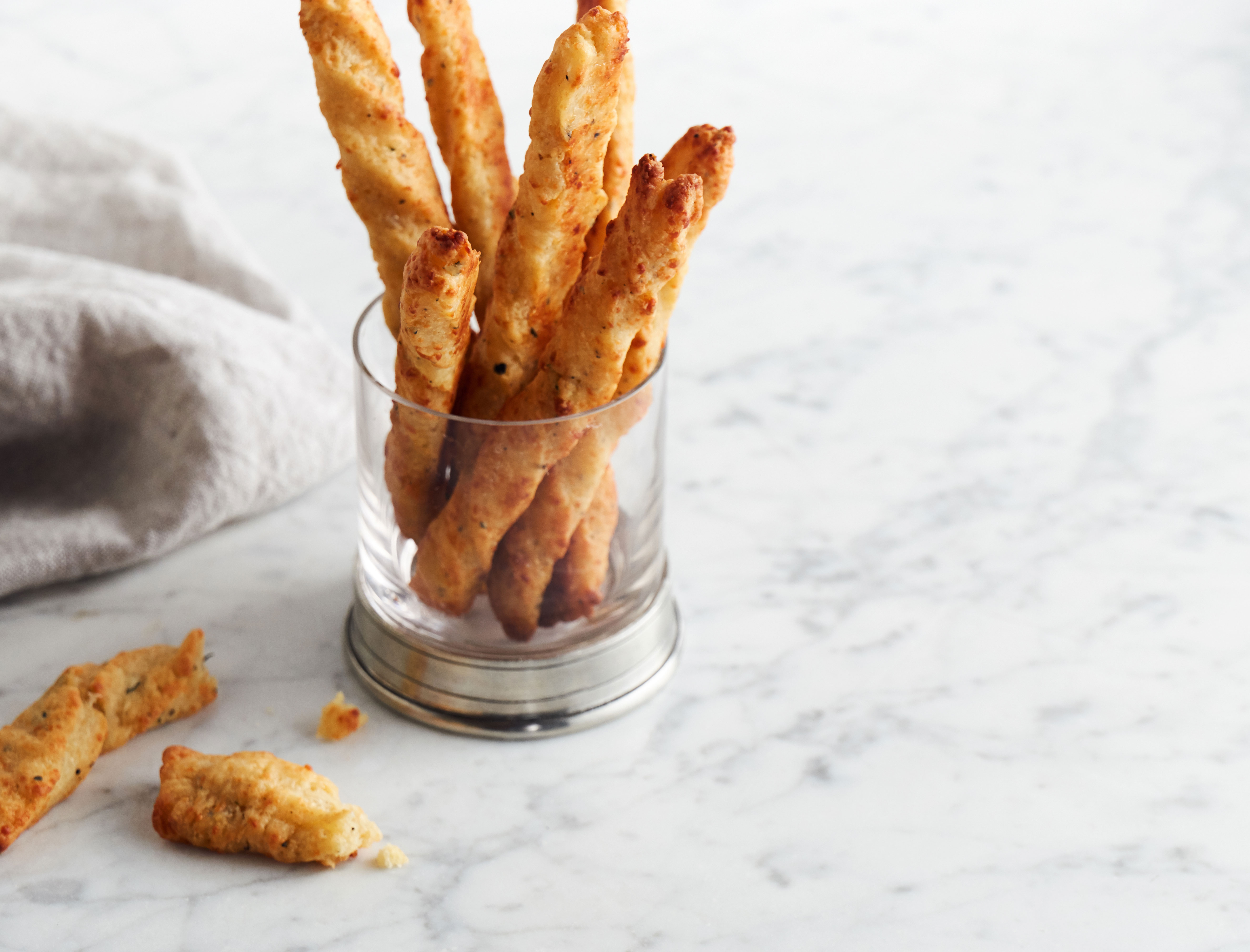 Parmesan and Thyme Cheese Straws