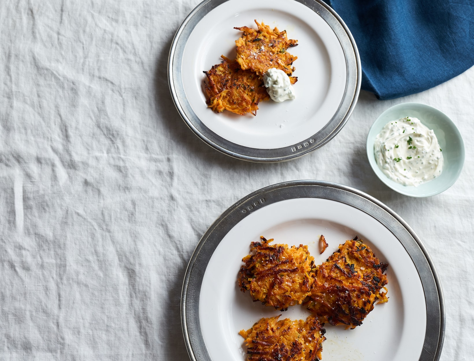 Sweet Potato Sage Latkes