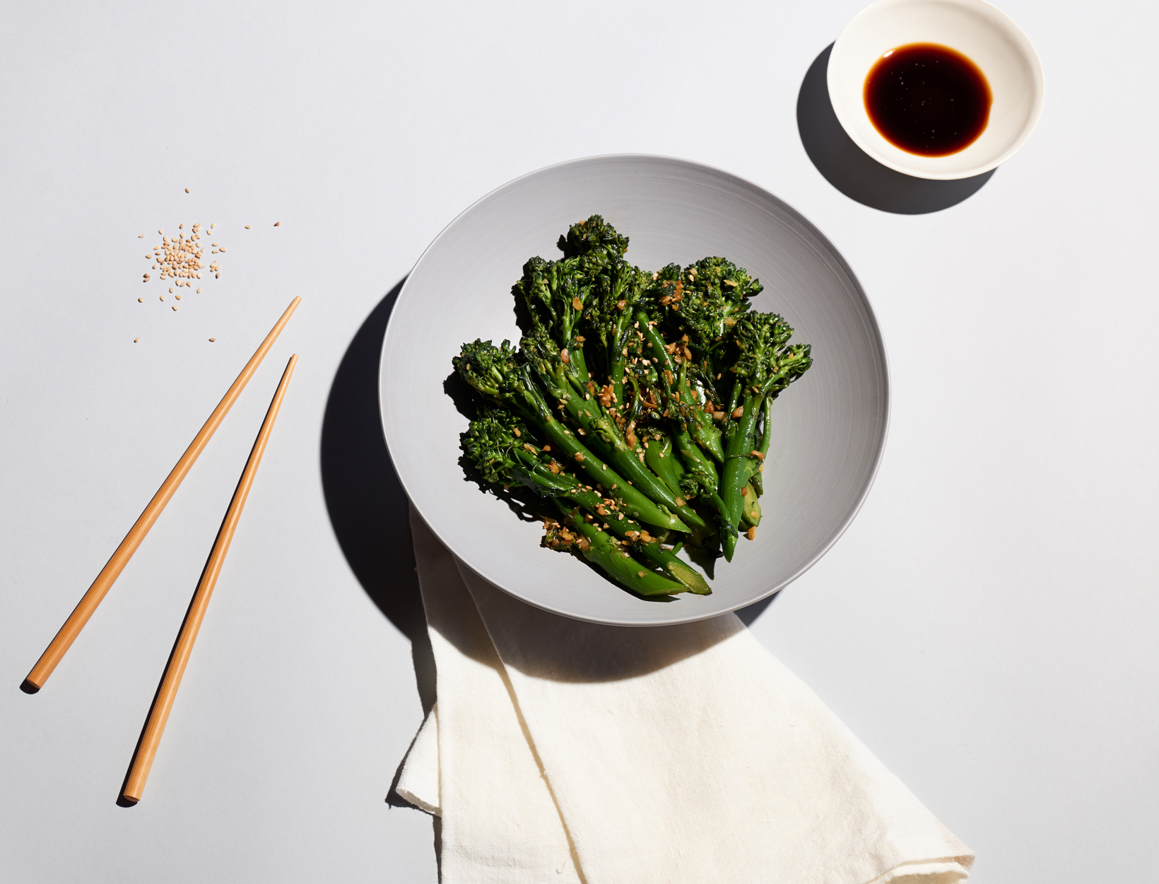 Broccolini with Ginger, Garlic, and Tamari