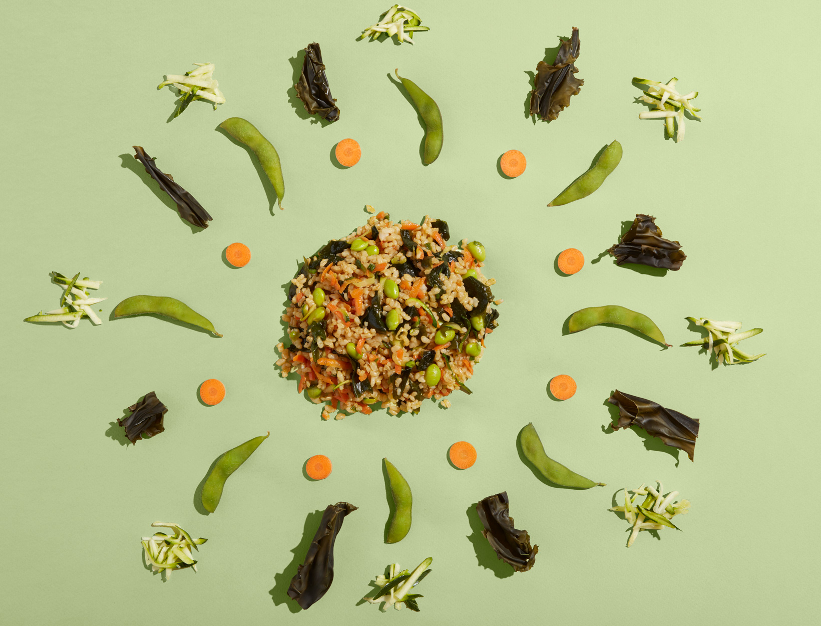 Wakame and Zucchini Fried Rice