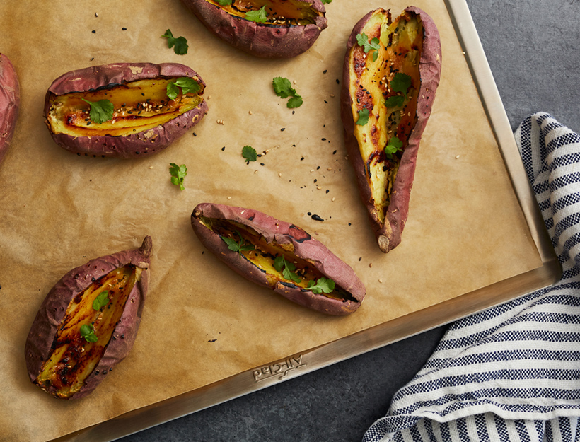 Miso Sweet Potatoes
