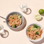 Cold Noodle Salad with SunButter Satay Sauce