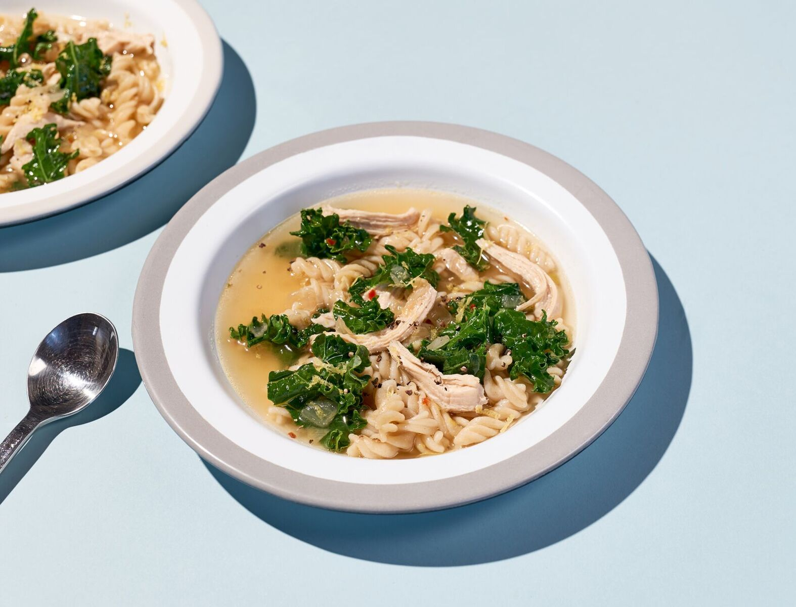 Italian Kale and Chicken Soup