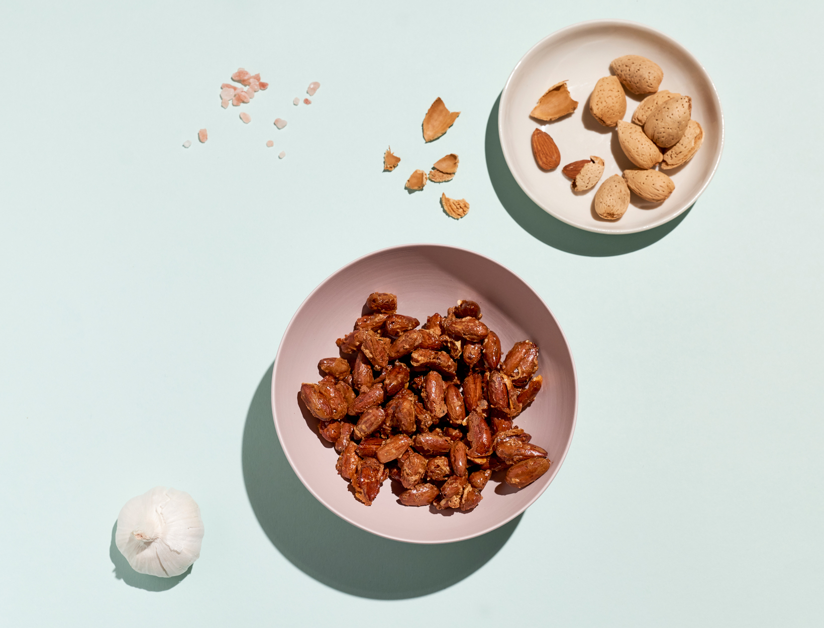Coconut Garlic Almonds