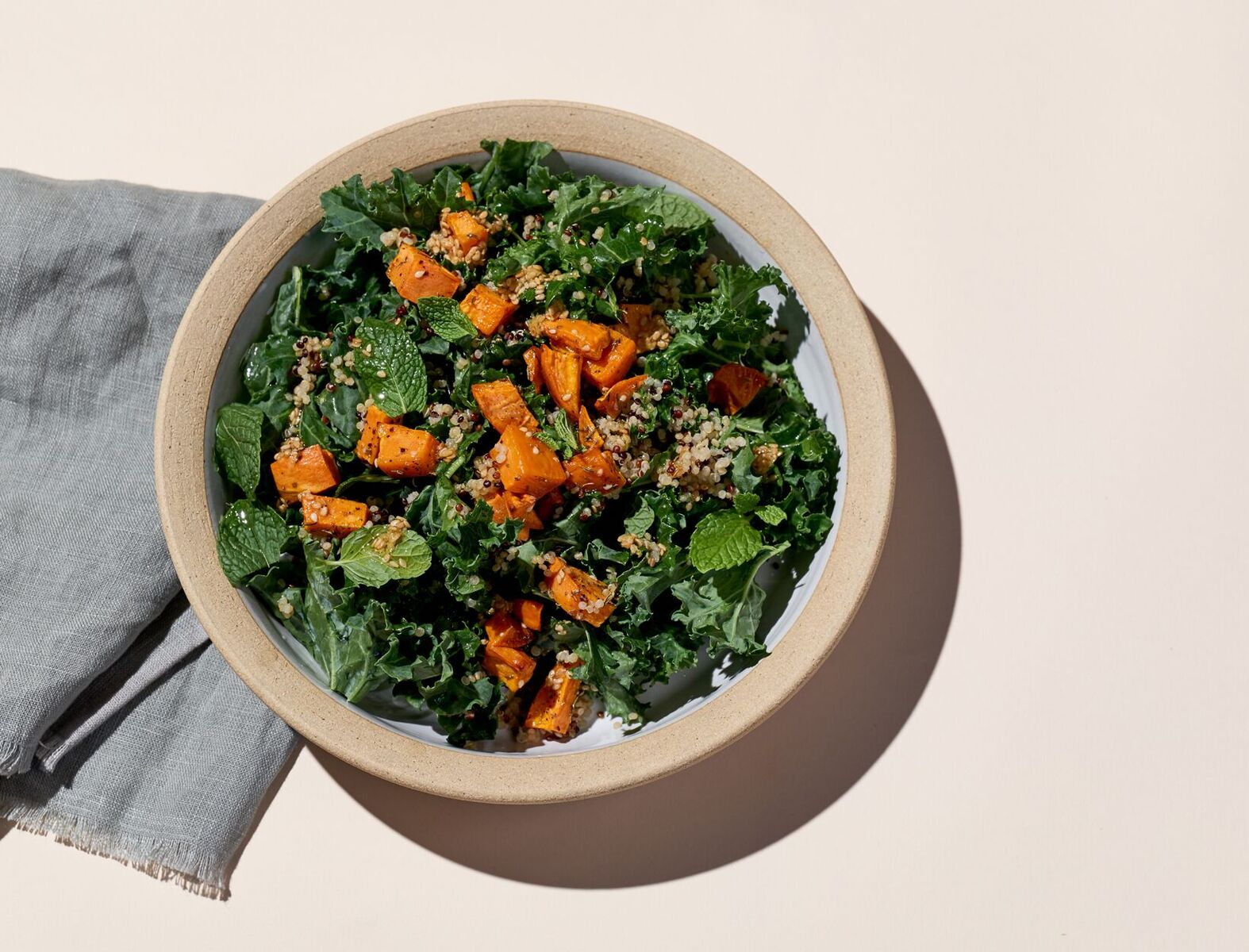 Sweet Potato, Quinoa, and Kale Salad