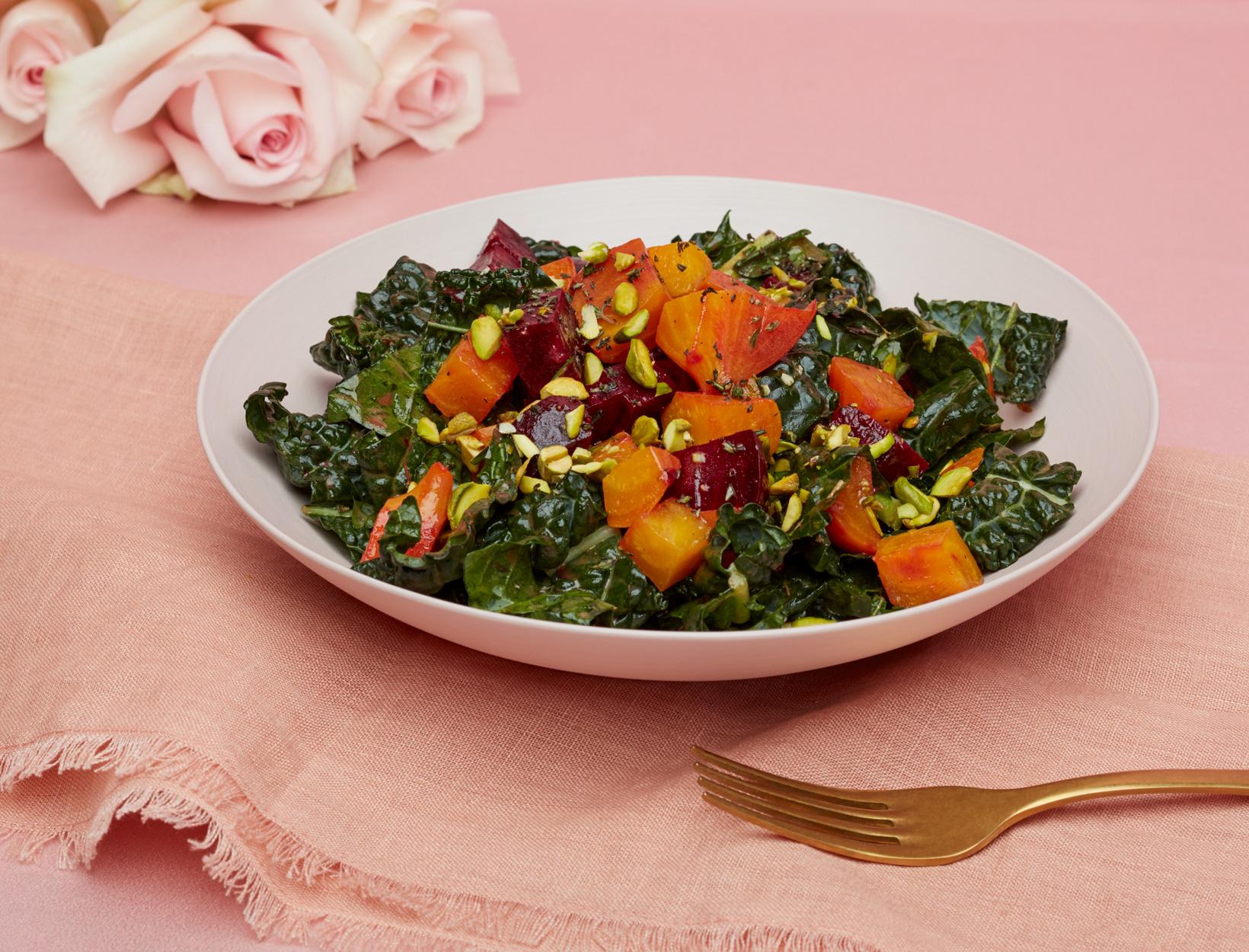 Winter Harvest Kale Salad
