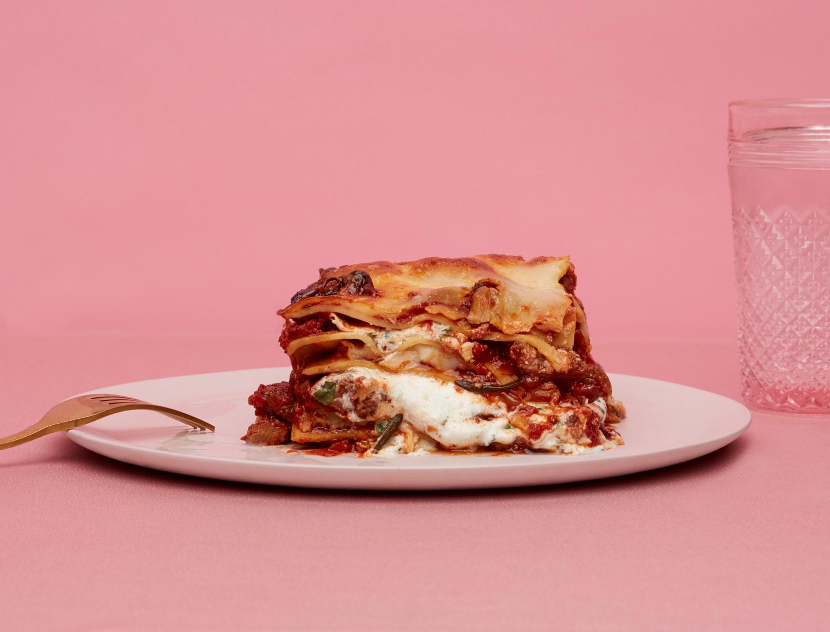 Lasagna with Sausage Ragu