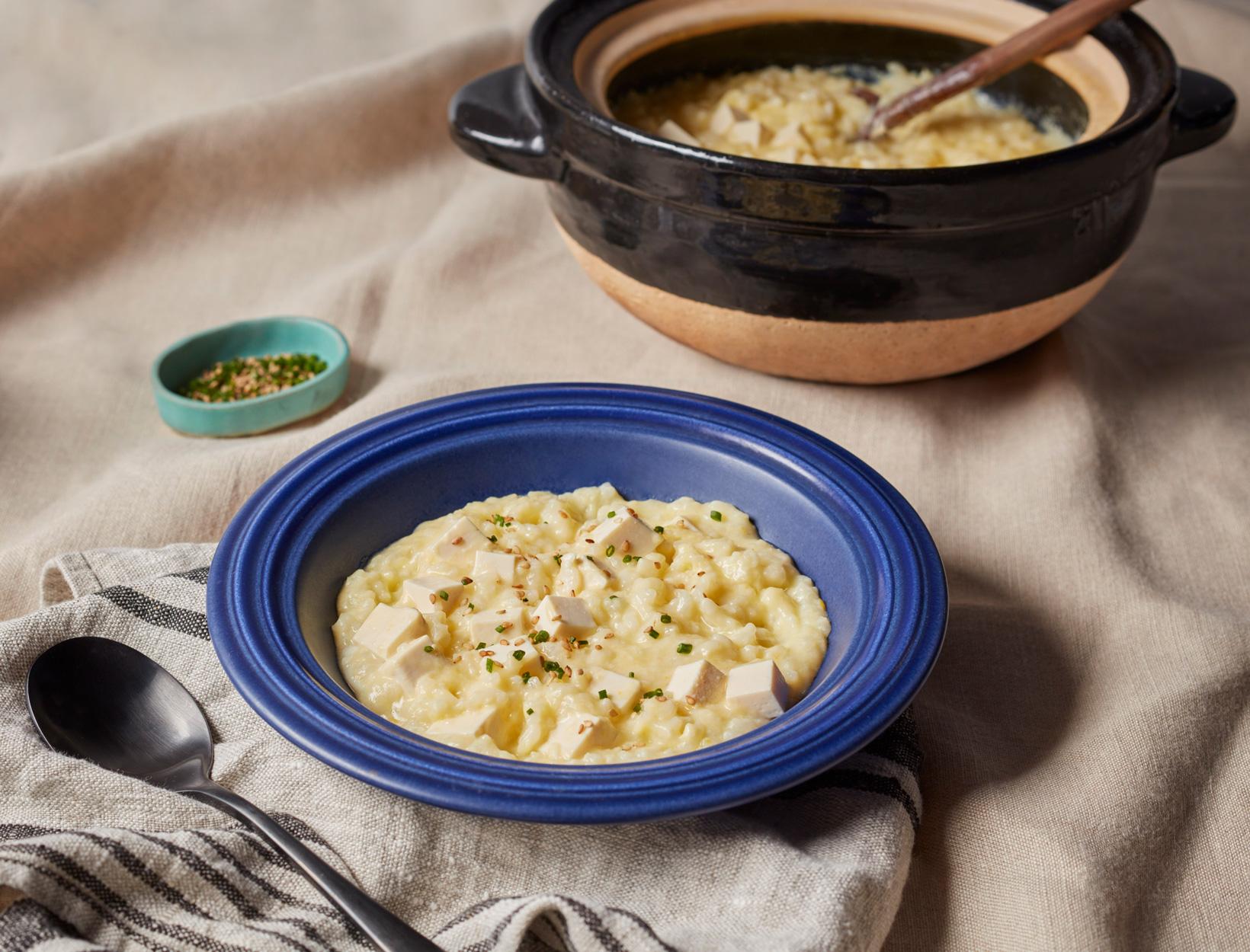 Egg and Tofu Porridge