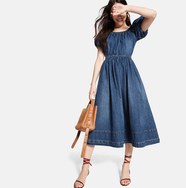 Co Denim A-Line Dress