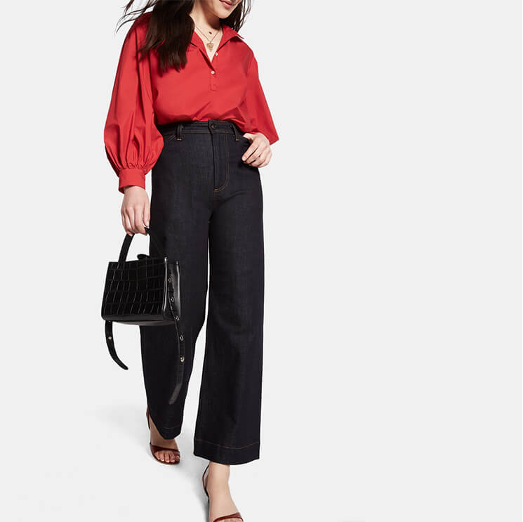 Nili Lotan Claira Cotton Button-Up Blouse