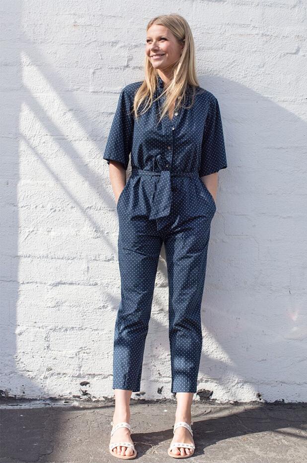 Rebecca Taylor La Vie Short-Sleeve Dahlia Dot Jumpsuit