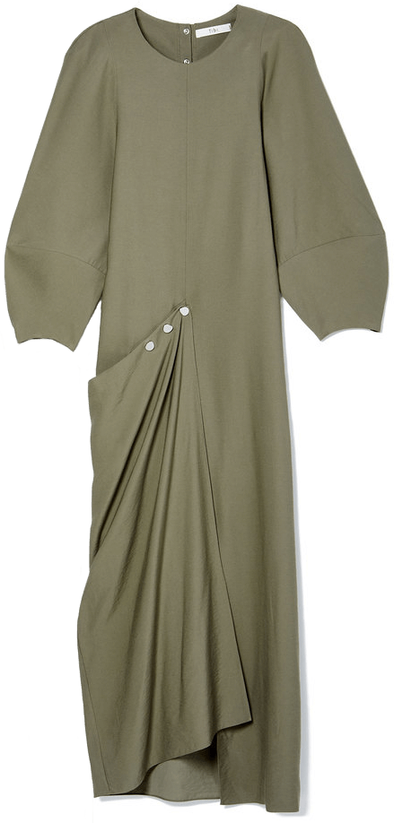 Tibi Washed Viscose Maxi Dress