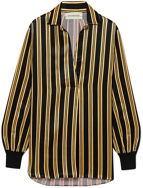 BY MALENE BIRGER Mourci Striped Satin Shirt