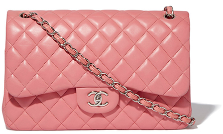 What Goes Around Comes Around Chanel Classic Quilted Pink Jumbo Bag
