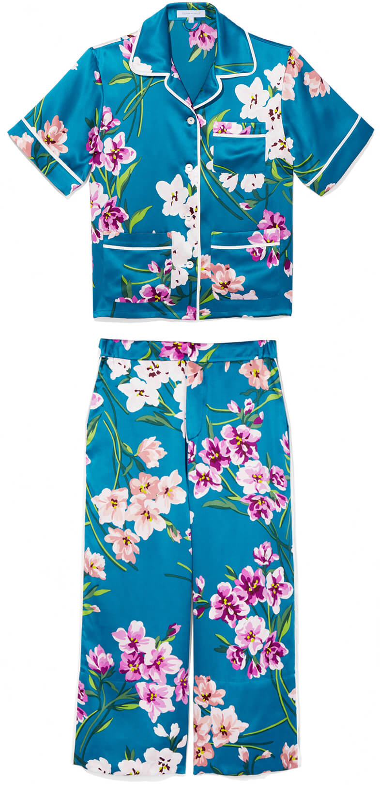 OlIVIA VON HALLE Daria Silk Pajama Set