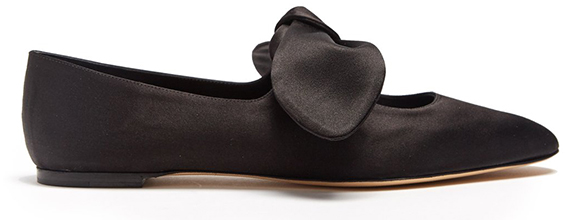 THE ROW Elodie Satin Ballet Flats