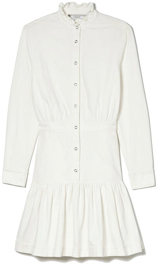 STELLA MCCARTNEY White High-Neck Dress