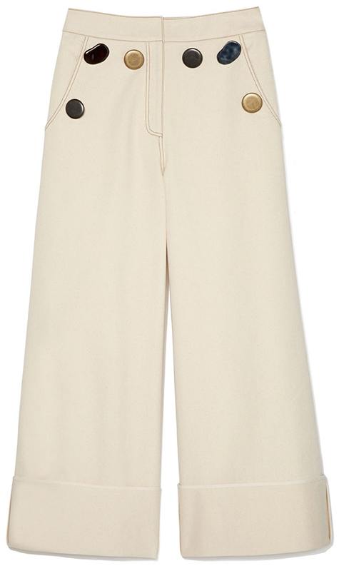 REJINA PYO Bailey Button-Detail Denim Trousers