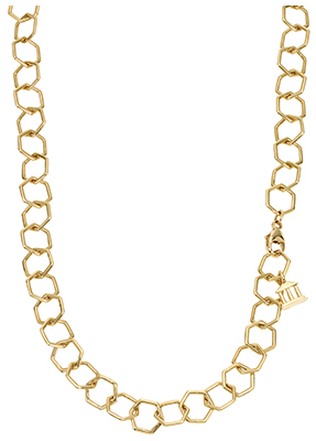 """TEMPLE ST. CLAIR 18K Small Beehive Chain 18"""""""