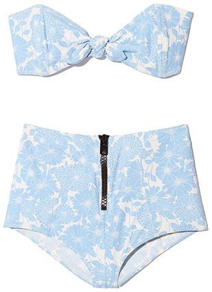 Poppy Floral High-Waist Bikini
