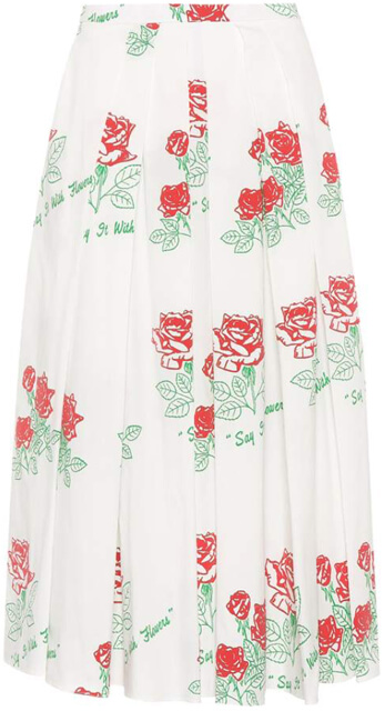 Say It With Flowers Printed Skirt
