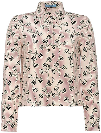 Silk Blouse with Mimosa Print