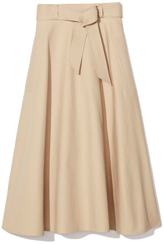 Martin Grant BELTED A-LINE CIRCLE SKIRT