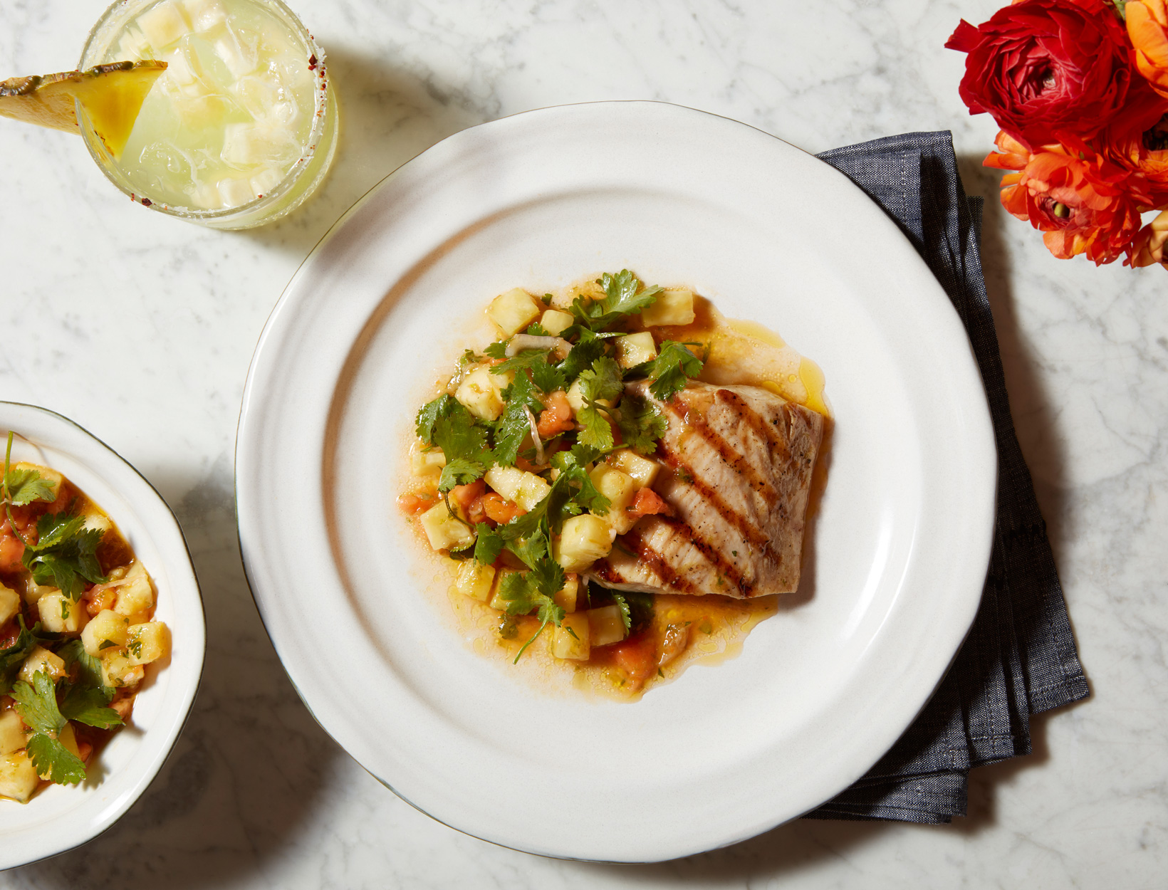 Grilled Mahi-Mahi with Papaya Relish