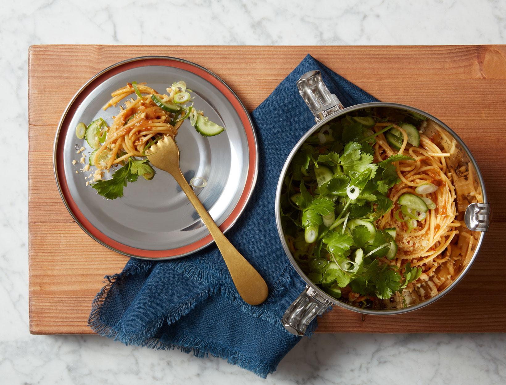 packable work lunch: cold dan dan noodles