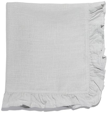CELINA MANCURTI Ruffled Linen Tea Towel