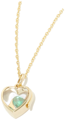 LOQUET 14K Small Heart Locket With Gold Chain