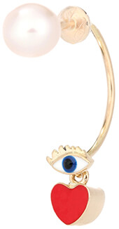 DELFINA DELETTREZ 18kt Yellow Gold and Pearl Earring