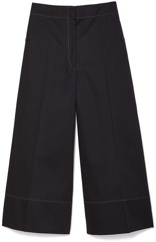 LEMAIRE Cropped Wide-Leg Cotton Pants