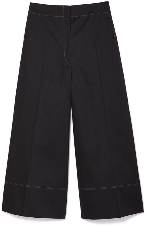 LEMAIRE Cropped Wide-Leg Cotton Pants