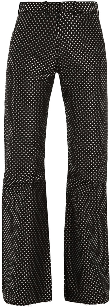 MARQUES'ALMEIDA Kick-Flare Polka-Dot Trousers