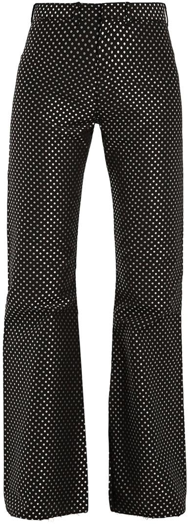 MARQUES'ALMEIDA Kick-Flare Polka-Dot Trousers