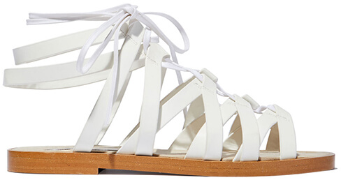 STELLA MCCARTNEY White Flat Sandals