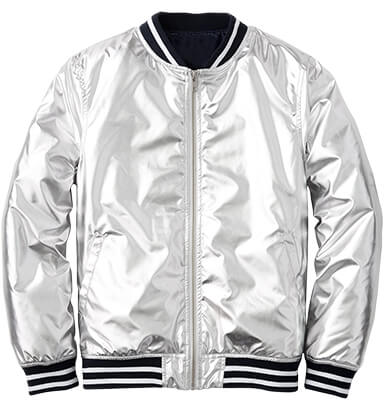 ROCKETS OF AWESOME Silver Bomber Jacket