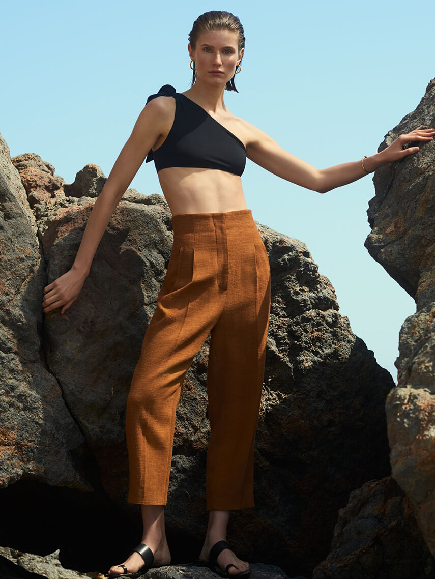 Model with ROSETTA GETTY Pants Farfetch