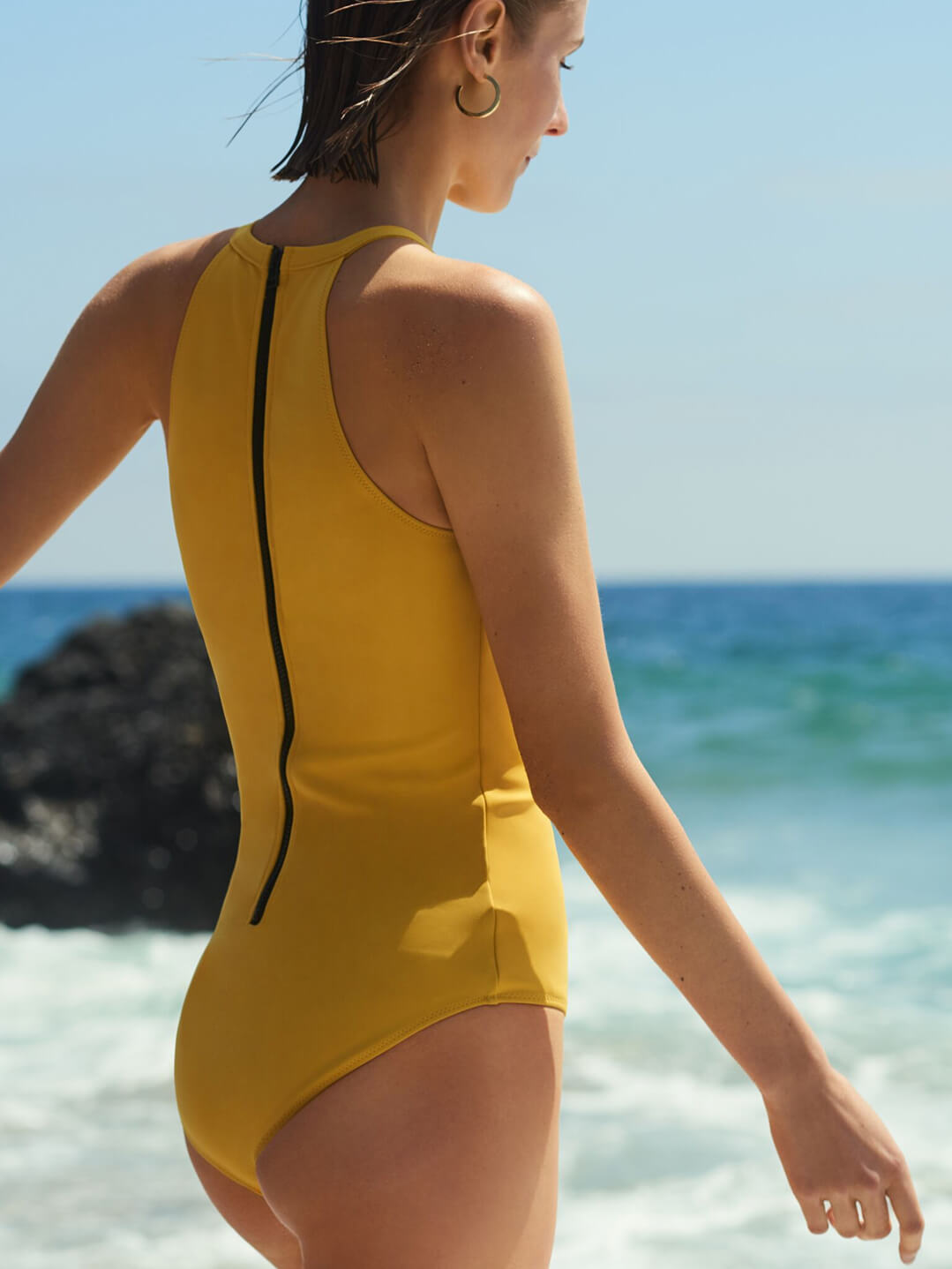Model with Rochelle Sara One-Piece