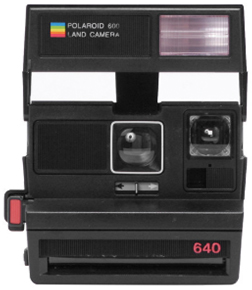 Polaroid 600 Square Black Flash
