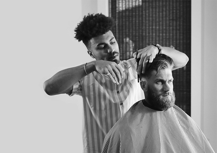 Blind Barber Haircut