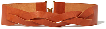 MARTIN GRANT Braided Thin Leather Belt