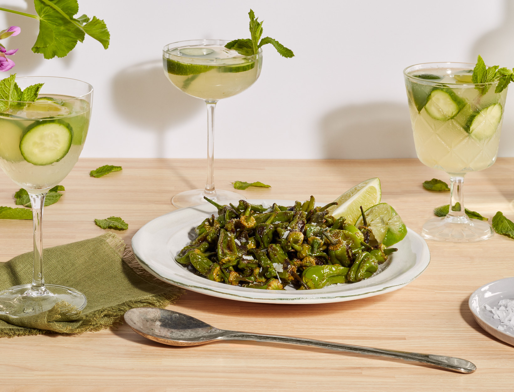 Simplest Blistered Padrón Peppers