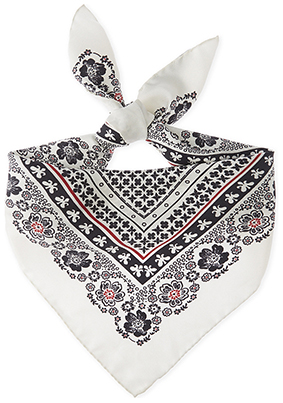 ALTUZARRA Patterned Silk Bandana