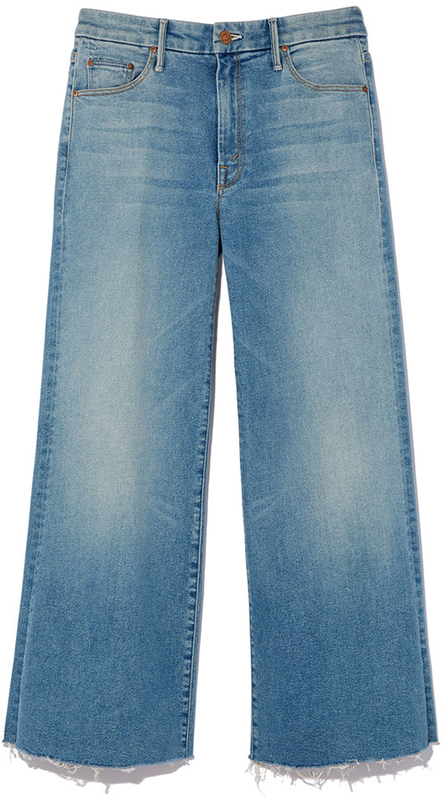 MOTHER ROLLER CROP SNIPPER FRAY JEANS