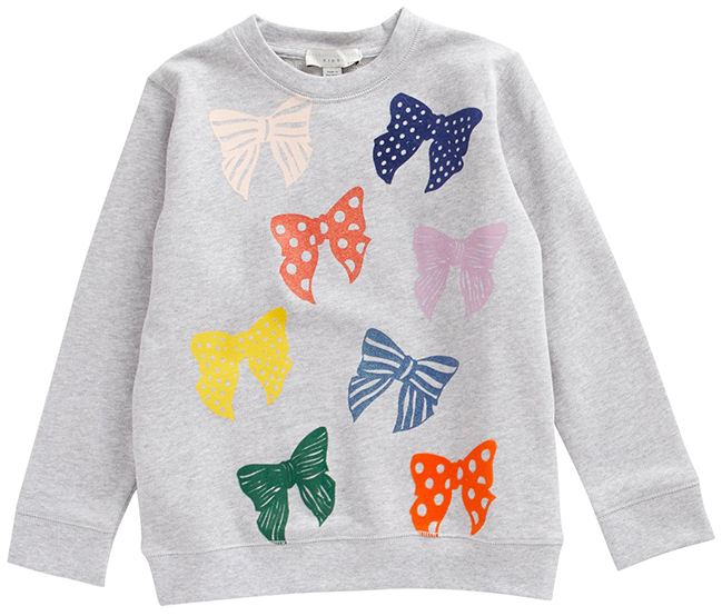 Stella Mccartney Bow Print Sweatshirt