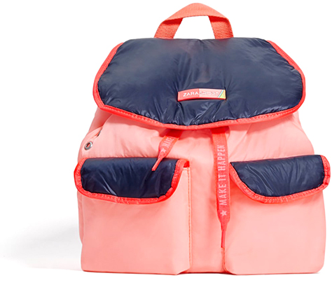 ZARA Sporty Pink and Blue Backpack