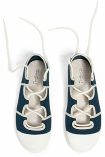 Zara Navy Fabric Sneakers