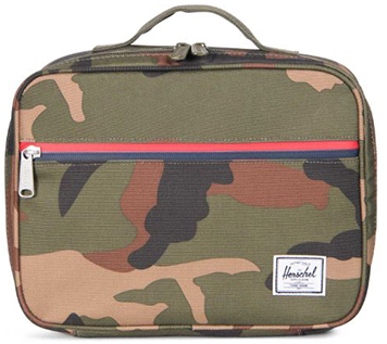 Herschel Pop Quiz Lunch Box in Woodland Camo